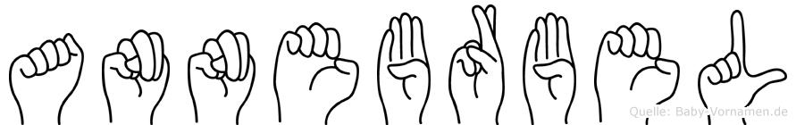 Annebärbel im Fingeralphabet der Deutschen Gebärdensprache