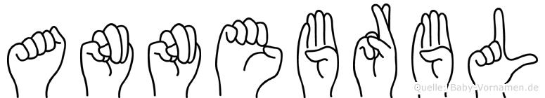 Annebärbl im Fingeralphabet der Deutschen Gebärdensprache