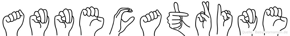 Annecatrine im Fingeralphabet der Deutschen Gebärdensprache