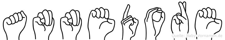 Annedore in Fingersprache für Gehörlose