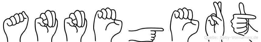 Annegert im Fingeralphabet der Deutschen Gebärdensprache