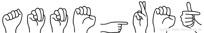 Annegret im Fingeralphabet der Deutschen Gebärdensprache