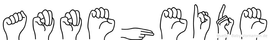 Anneheide im Fingeralphabet der Deutschen Gebärdensprache
