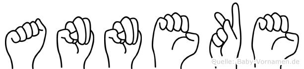 Anneke im Fingeralphabet der Deutschen Gebärdensprache