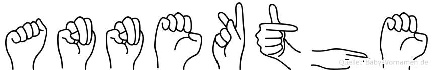 Annekäthe im Fingeralphabet der Deutschen Gebärdensprache
