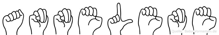 Annelene im Fingeralphabet der Deutschen Gebärdensprache