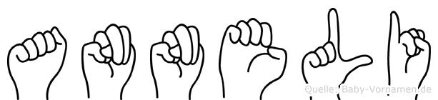 Anneli im Fingeralphabet der Deutschen Gebärdensprache