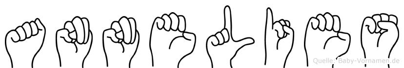 Annelies im Fingeralphabet der Deutschen Gebärdensprache