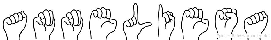 Anneliesa im Fingeralphabet der Deutschen Gebärdensprache