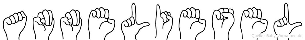 Anneliesel im Fingeralphabet der Deutschen Gebärdensprache