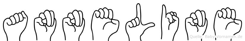 Anneline im Fingeralphabet der Deutschen Gebärdensprache