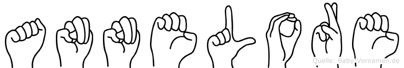 Annelore im Fingeralphabet der Deutschen Gebärdensprache