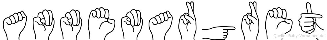 Annemargret im Fingeralphabet der Deutschen Gebärdensprache