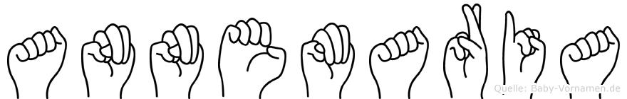 Annemaria im Fingeralphabet der Deutschen Gebärdensprache
