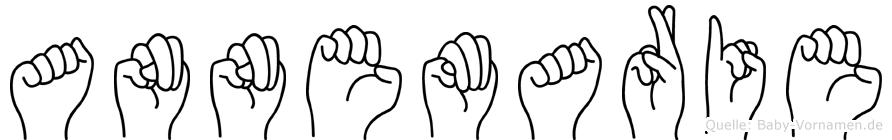 Annemarie im Fingeralphabet der Deutschen Gebärdensprache