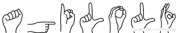 Agilolf in Fingersprache für Gehörlose