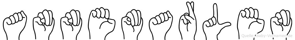 Annemarlen im Fingeralphabet der Deutschen Gebärdensprache