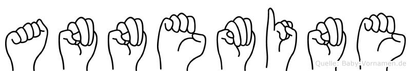 Annemine im Fingeralphabet der Deutschen Gebärdensprache