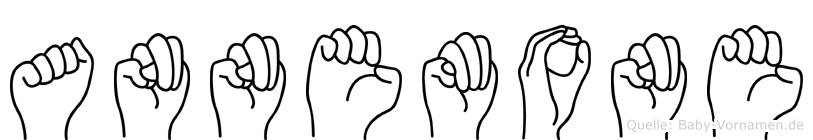 Annemone im Fingeralphabet der Deutschen Gebärdensprache