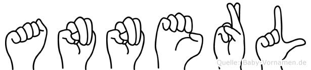 Annerl im Fingeralphabet der Deutschen Gebärdensprache