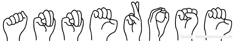 Annerose im Fingeralphabet der Deutschen Gebärdensprache