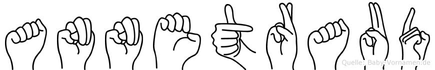 Annetraud im Fingeralphabet der Deutschen Gebärdensprache
