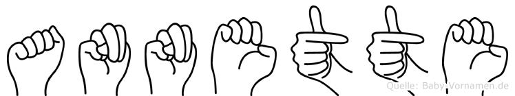 Annette in Fingersprache für Gehörlose
