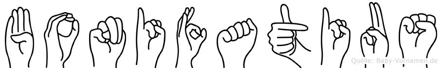 Bonifatius im Fingeralphabet der Deutschen Gebärdensprache