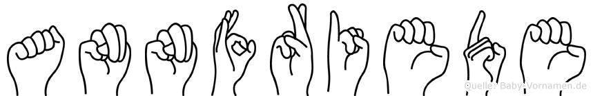 Annfriede in Fingersprache für Gehörlose
