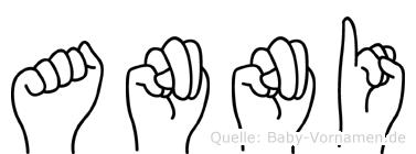 Anni in Fingersprache für Gehörlose