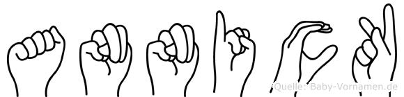 Annick im Fingeralphabet der Deutschen Gebärdensprache