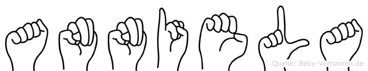 Anniela im Fingeralphabet der Deutschen Gebärdensprache