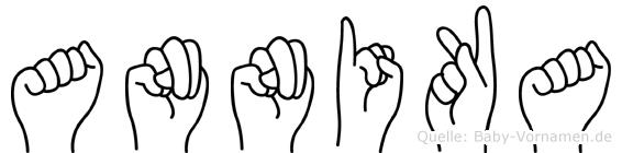 Annika in Fingersprache für Gehörlose