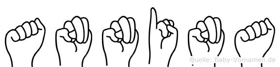 Annina im Fingeralphabet der Deutschen Gebärdensprache