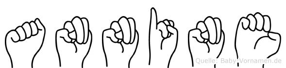 Annine im Fingeralphabet der Deutschen Gebärdensprache