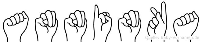 Anninka im Fingeralphabet der Deutschen Gebärdensprache
