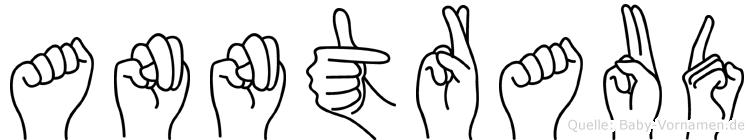 Anntraud im Fingeralphabet der Deutschen Gebärdensprache