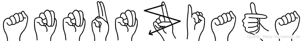 Annunziata im Fingeralphabet der Deutschen Gebärdensprache