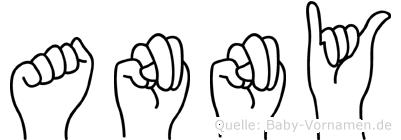 Anny im Fingeralphabet der Deutschen Gebärdensprache