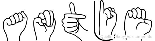 Antje in Fingersprache für Gehörlose