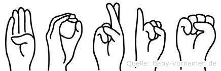 Boris in Fingersprache für Gehörlose