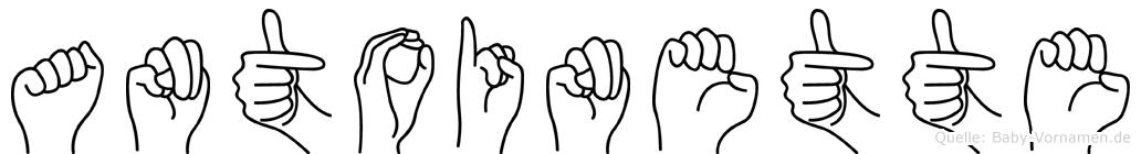 Antoinette im Fingeralphabet der Deutschen Gebärdensprache