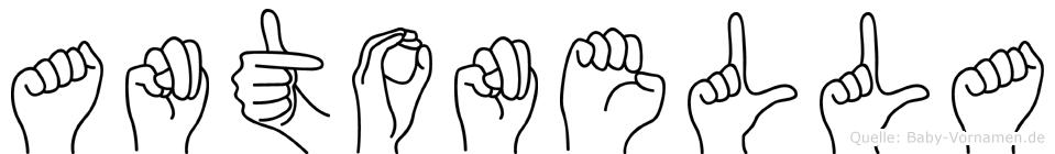Antonella im Fingeralphabet der Deutschen Gebärdensprache