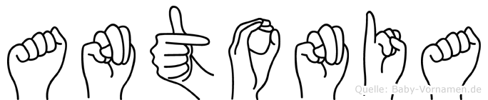 Antonia im Fingeralphabet der Deutschen Gebärdensprache