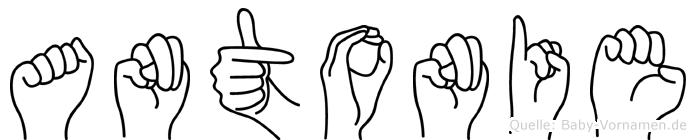 Antonie in Fingersprache für Gehörlose