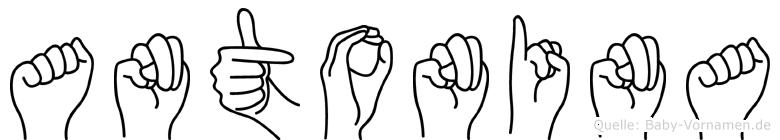 Antonina in Fingersprache für Gehörlose