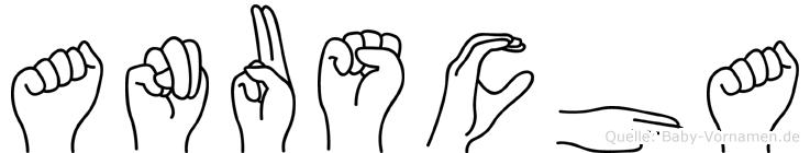 Anuscha im Fingeralphabet der Deutschen Gebärdensprache