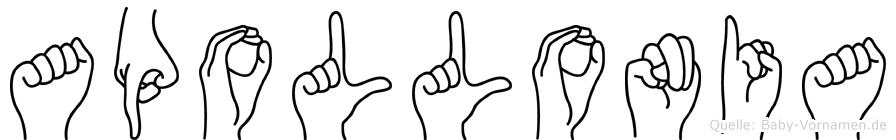 Apollonia in Fingersprache für Gehörlose