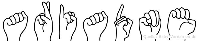 Ariadne im Fingeralphabet der Deutschen Gebärdensprache