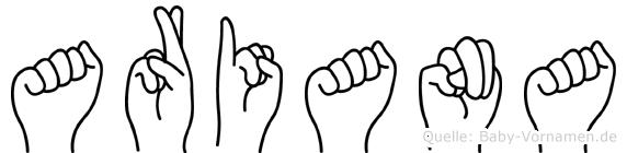 Ariana in Fingersprache für Gehörlose